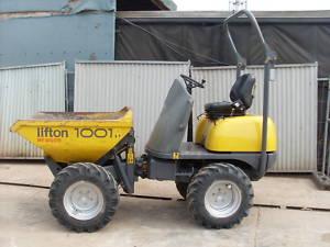 1 ton High lift skip loading dumper and operator